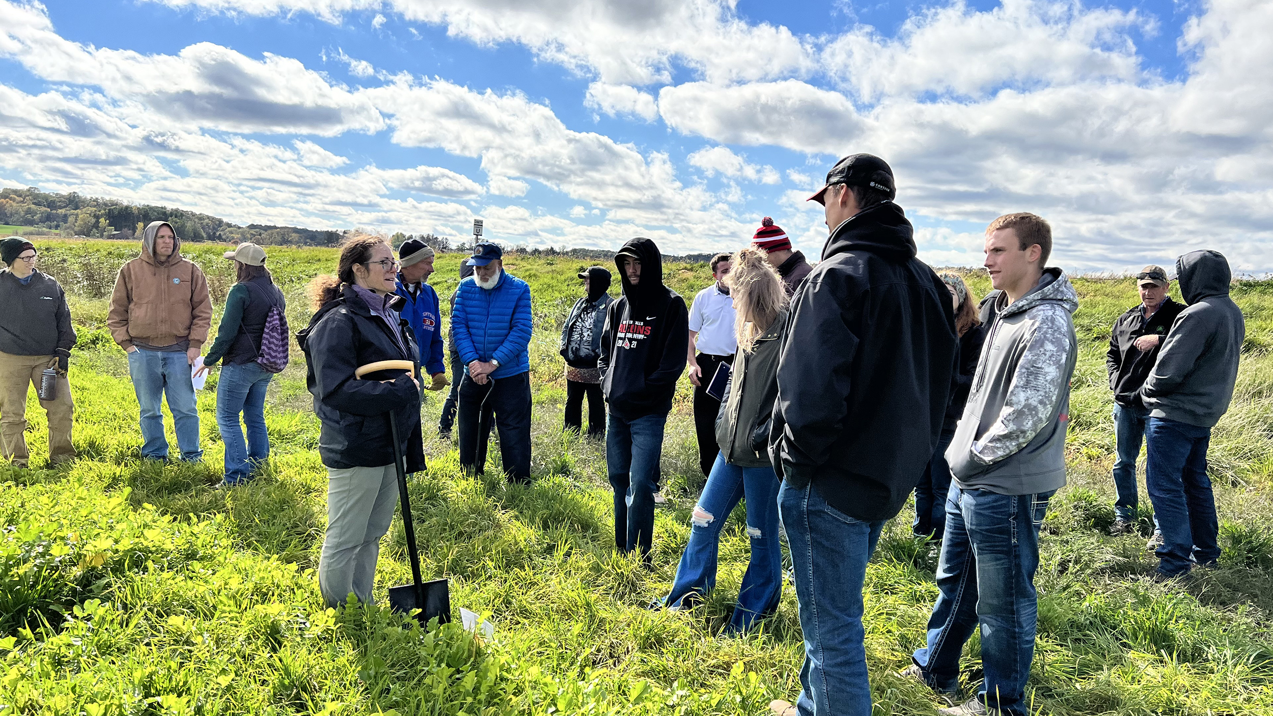 UW-River Falls showcases multiple cover crop mixture study for WWCC members